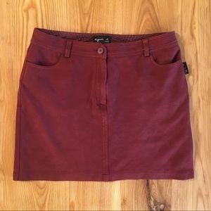 French Agnes b. Merlot Mini Skirt